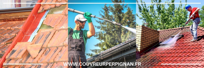 nettoyage et démoussage de toiture à Cabestany
